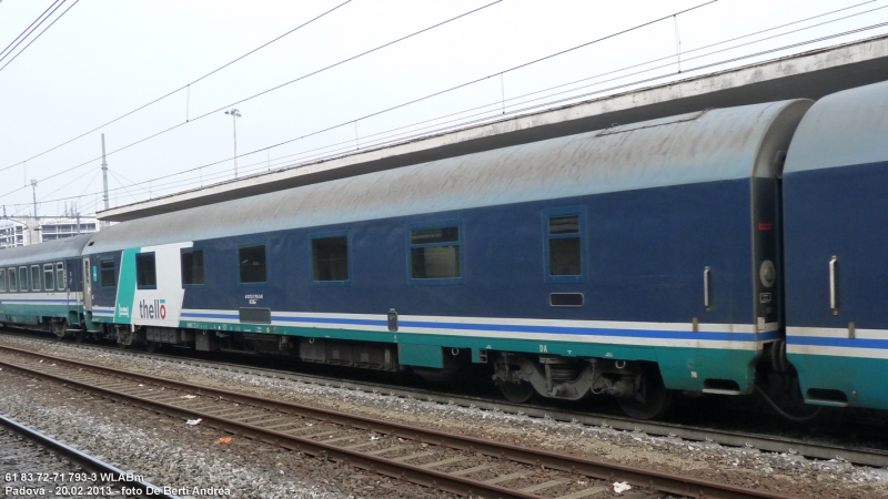 Carrozze tipo mu vettura letti 61 83 72 71 793 3 wlabm - Trenitalia vagone letto ...